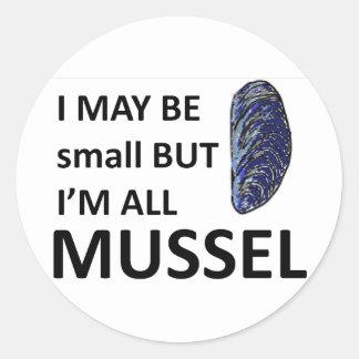 Mussel Size Classic Round Sticker