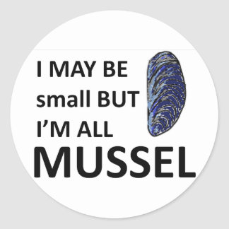 Mussel Size Stickers