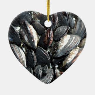 Mussels Ceramic Ornament