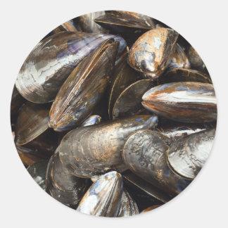 Mussels Classic Round Sticker