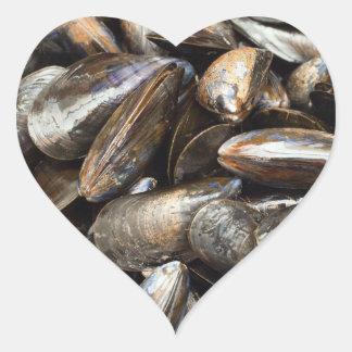 Mussels Heart Sticker