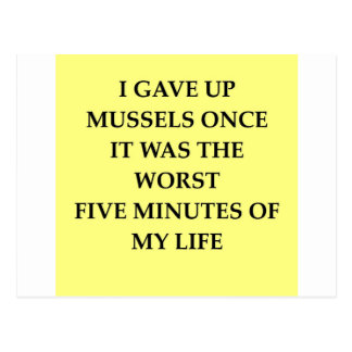 MUSSELS.jpg Postcard