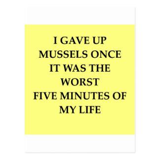 MUSSELS.jpg Tarjetas Postales