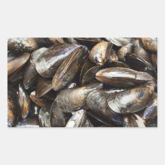 Mussels Rectangular Sticker