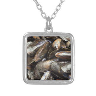 Mussels Square Pendant Necklace