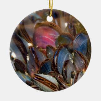 Mussels Under the Ocean Ceramic Ornament