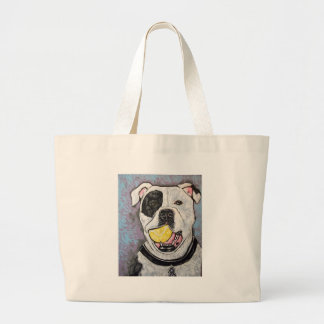 mussolini and the tennis ball large tote bag