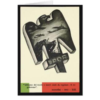 Mussolini Propaganda Card