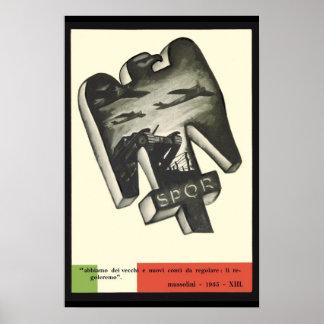 Mussolini Propaganda Poster