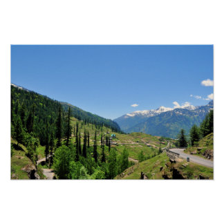 Mussoorie Mountains Poster Print
