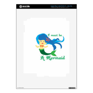 Must Be A Mermaid Skin For iPad 3
