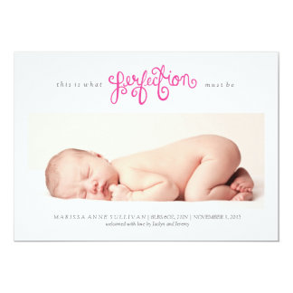 Must be Perfection Birth Announcement - Azalea