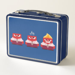 Metal Lunch Box with Must ... Control ... Anger! from Inside Out design