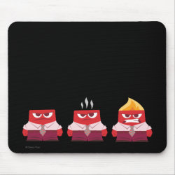 Mousepad with Must ... Control ... Anger! from Inside Out design