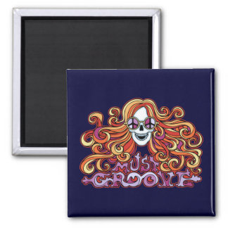 Must Groove 2 Inch Square Magnet