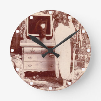 Must have Been a Jackass Last Night Vintage Funny Round Clock