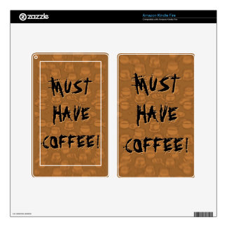 Must Have Coffee Skin For Kindle Fire