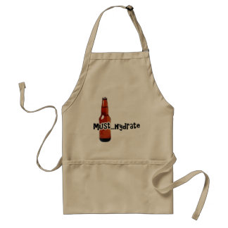 Must Hydrate Beer Bottle Adult Apron