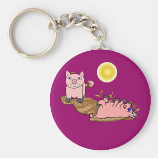 Must Love Pigs Keychain