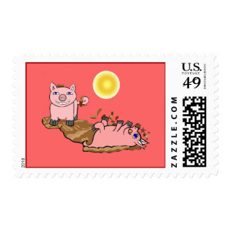 Must Love Pigs Postage Stamp