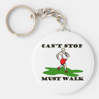 Must Walk Basic Round Button Keychain
