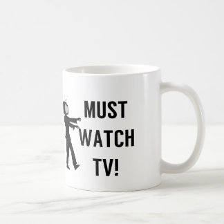 Must Watch TV Zombie Coffee Mug