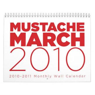 Mustach calendario de marzo de 2010