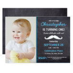 Mustache | 1st  birthday party | photo invitation