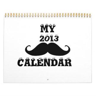 Mustache 2013-2014 calendar