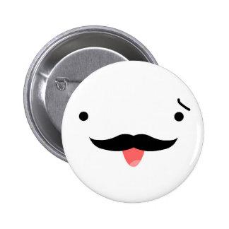 Mustache 2 Inch Round Button
