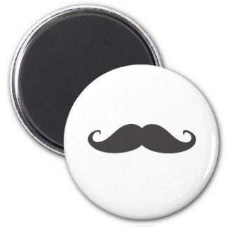 Mustache 2 Inch Round Magnet