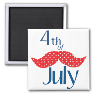 Mustache 4th of July Magnets