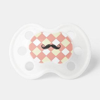 Mustache and Cherkerd 0-6 months BooginHead® Pacif Pacifier
