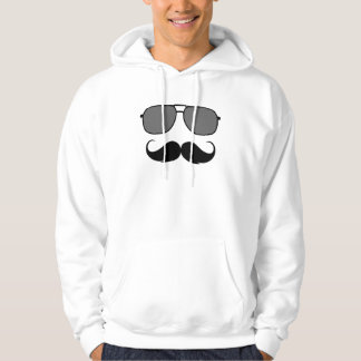 mustache and glasses hoodie