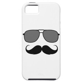 mustache and glasses iPhone 5 cases