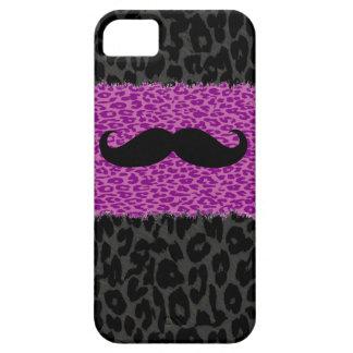 Mustache and Leopard Print iPhone SE/5/5s Case