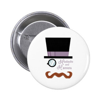 Mustache And Manners Pins