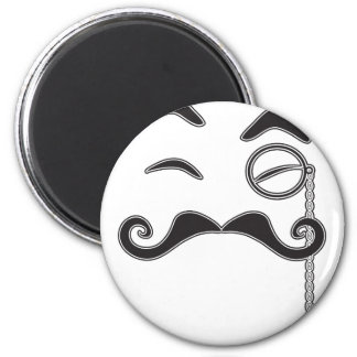 Mustache and Monocle Magnet