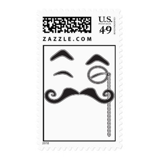Mustache and Monocle Stamp