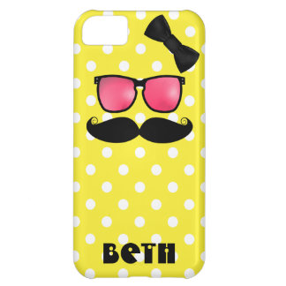 Mustache and Polka Dots Cover For iPhone 5C