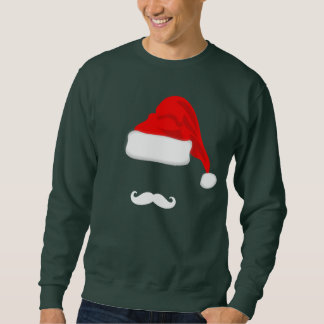 Mustache and Santa Hat Christmas T-shirt