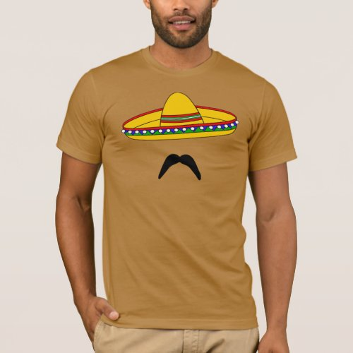 Mustache and Sombrero Cinco de Mayo Fiesta T_shirt