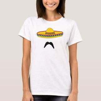Mustache and Sombrero Cinco de Mayo Fiesta T-shirt