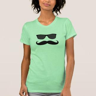 Mustache and Sunglasses Tee Shirt