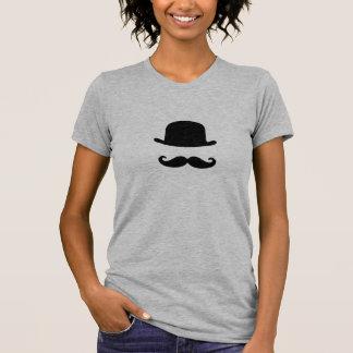 Mustache and Top Hat Cute Women's T-Shirt