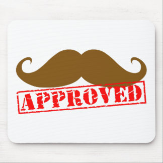 Mustache Approved Mouse Pad