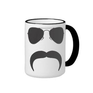 Mustache Aviator Silhouette Mug