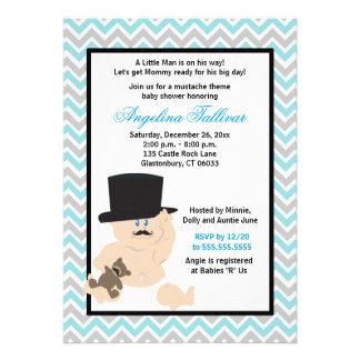 Mustache Baby Boy Baby Shower Invitation