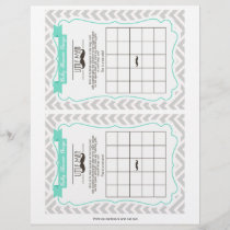 Mustache Baby Shower Bingo Game, 2 a page