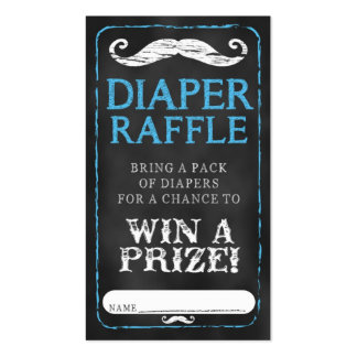 Mustache Baby Shower Diaper Raffle Ticket Baby Business Card Template